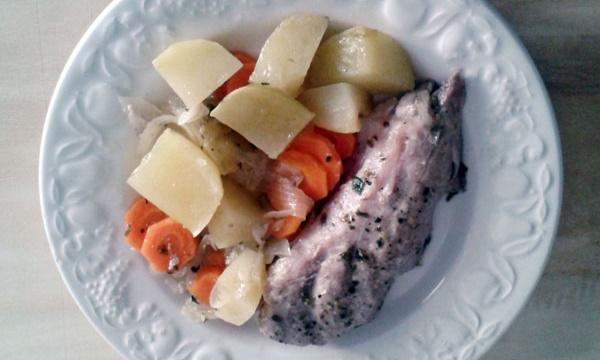 Carne con verduras en Olla Exprés