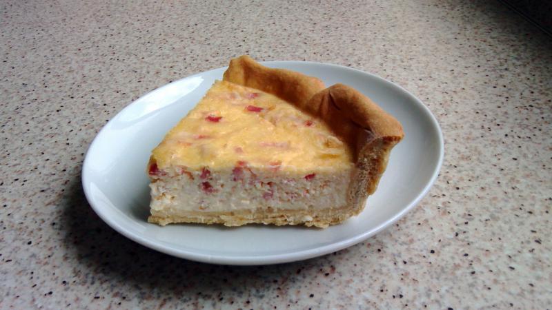 Quiche Lorraine {tarta francesa de jamón y queso}