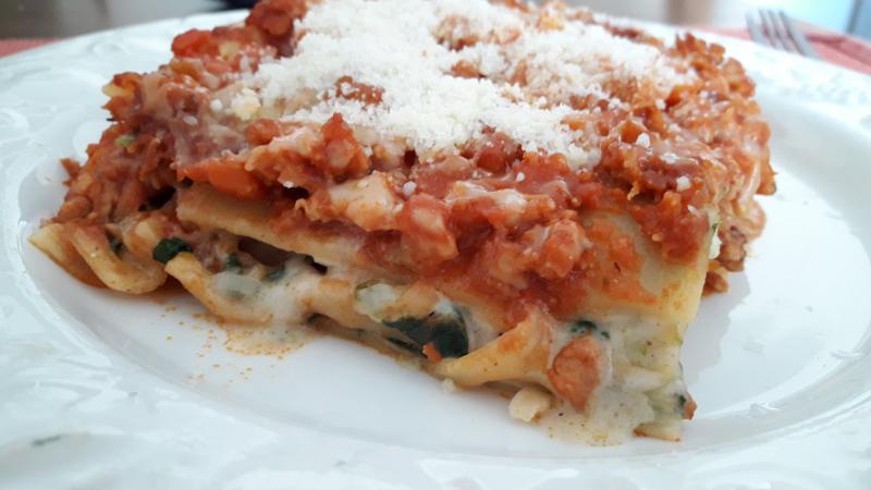Lasaña lasagna casera