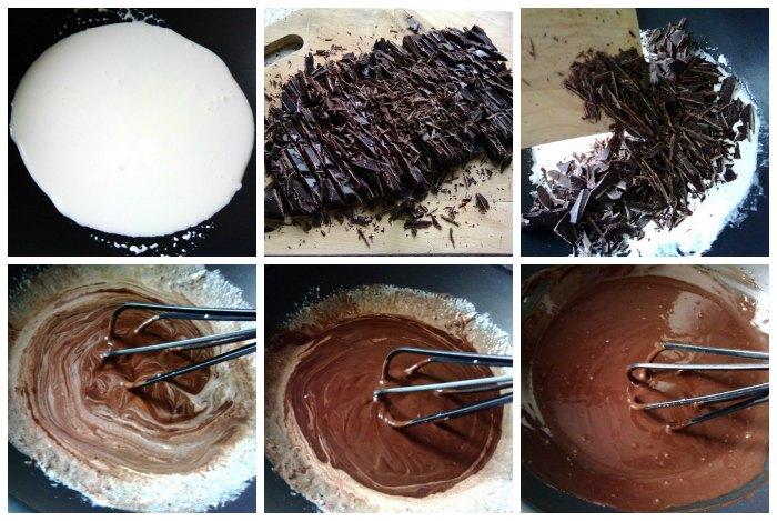 Ganache de chocolate o Trufa cocida en 5 minutos
