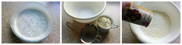 Preparar molde y harina