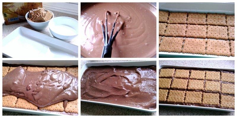 Tarta de Galletas con natillas {Torta de galletitas y chocolate}