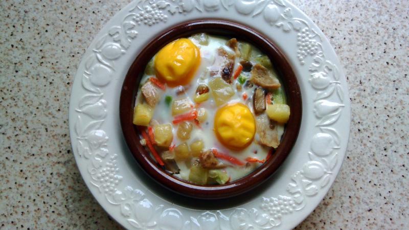 Huevos a la cazuela