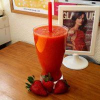 Batido de fresa y naranja