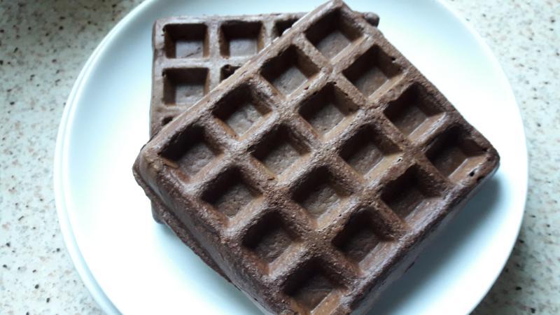 waffles de avena y cacao