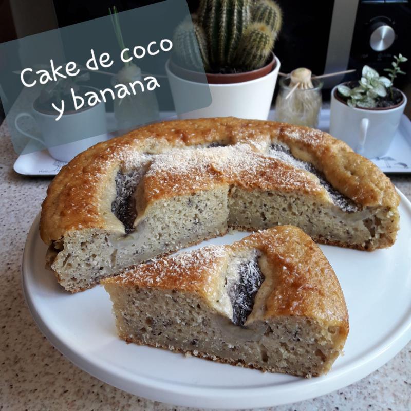 Cake de coco y banana