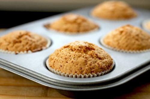 Muffins esponjosos de vainilla