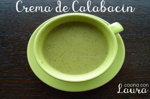 Crema de calabacín o zucchini